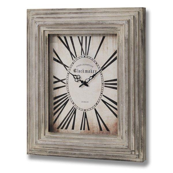 Stylish Oversized Rectangular Wall Clock With Distressed