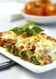Cannellonis farcis aux épinards - Un mois de recettes pas chères