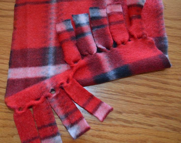 How to make a Fleece Scarf -                                                                                                                                                                                 More