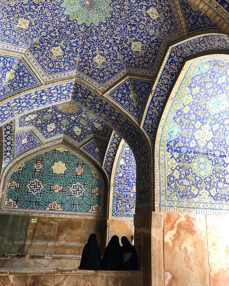 Mosque - mosaics - moments #iran #visitiran #mosque #esfahan #naqshejahan