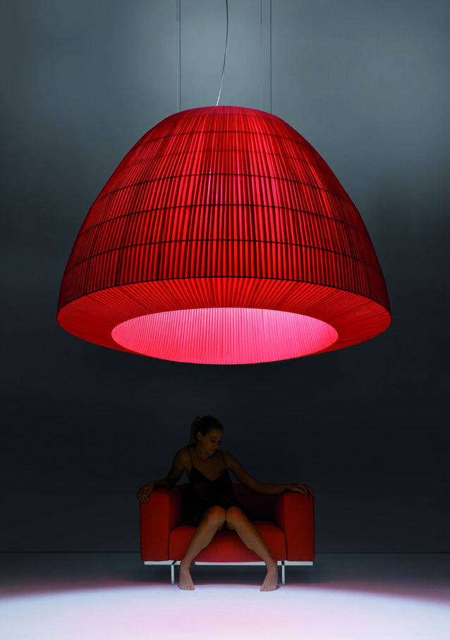 AXOLIGHT ::: a masterpiece, the lamp «Bell» designed by Manuel Vivian. Different colores and sices till 160cm diameter - www.axolight.it More information info@denovum.ch