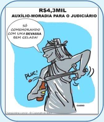 A MALANDRAGEM DOS JUÍZES  http://almirquites.blogspot.com/2018/02/a-malandragem-dos-juizes.html Auxílio Moradia: Magistrados inflam seus contracheques em R$ 4.378,00 enquanto, 90% dos brasileiros ganham, por mês, menos que isso!