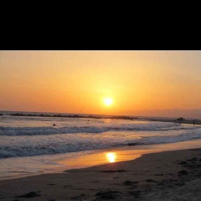 Sunset at Venice Beach, a classic