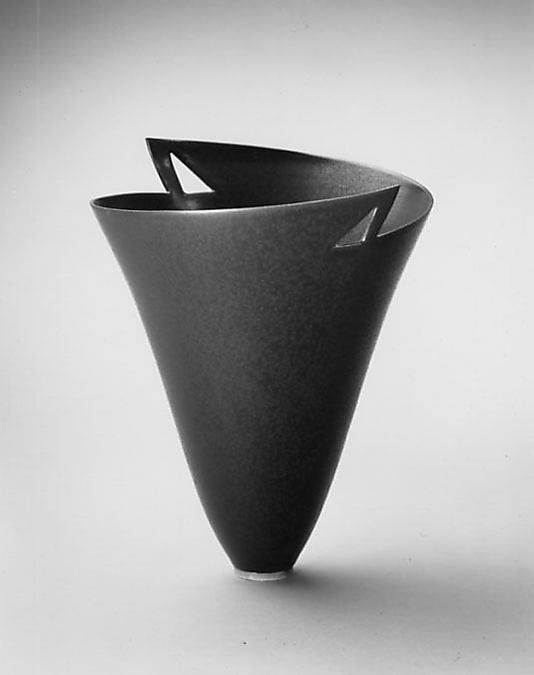 """""""Cold Rolled Steel / Double Triangles"""" Vase - Elsa Rady."""