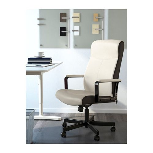 MILLBERGET Swivel chair, Kimstad white Kimstad white -