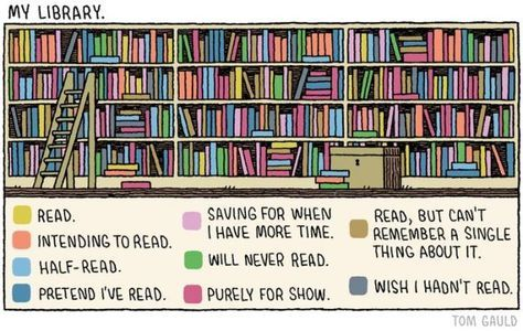 Types of books that people have. --14 Funny Situations Only True Book Lovers Will Understand