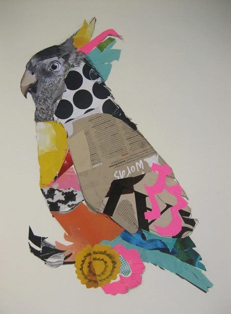 Art by Emma Gale, #bird #collage