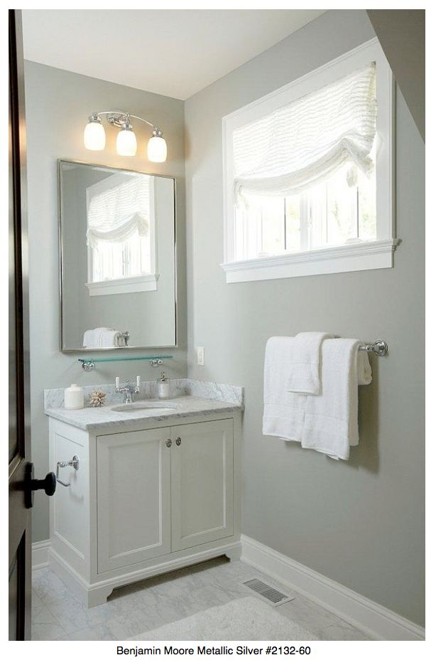 40 best wall colors images on pinterest wall flowers for Benjamin moore grey bathroom
