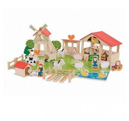 Wooden Play Farm