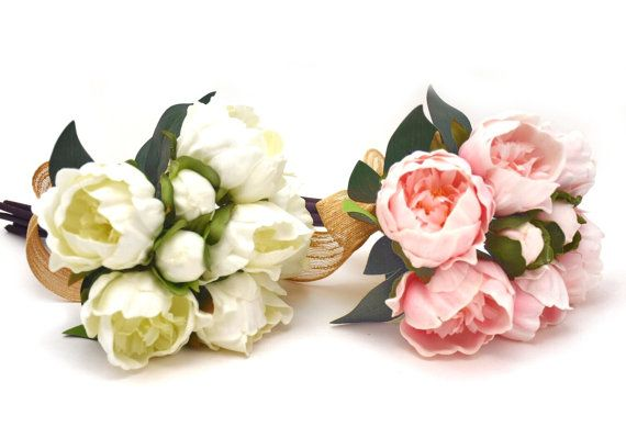 Regarded as an omen of good fortune, Stemples Real Touch White or Pink Peonies are natural to the touch and deeply rich in color. These permenant