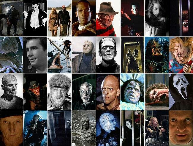 Horror movie character collage | Tattoo & Peircing Ideas ...