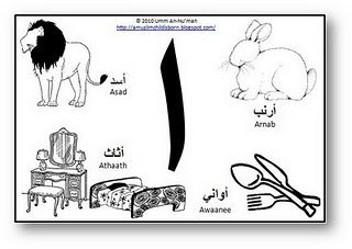 Arabic alphabet activities for each letter :) Love it!