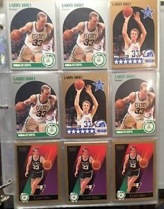 1990 Skybox Hoops All Stars Larry Bird Skybox Lot of 9CARDS 1sheet | eBay