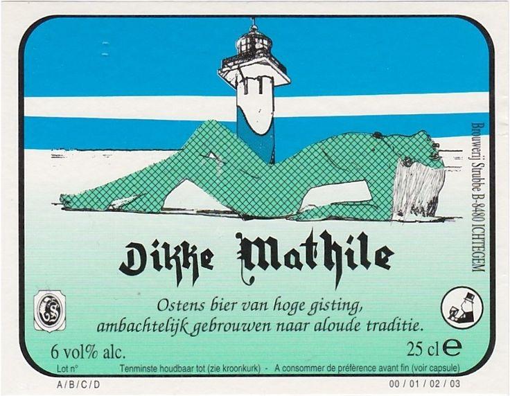 Dikke Mathile, Belgian Ale 6,0% ABV (Brouwerij Strubbe, Bélgica) #label