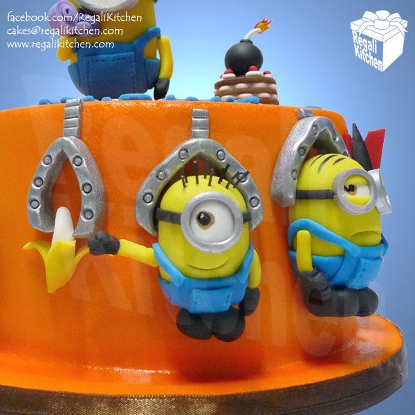 Despicable Me Gru Cake Gru Lab Bomb Cake Orange