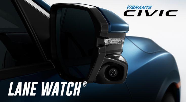 #Honda LaneWatch®* Es una exclusiva tecnología que a través de una cámara te permite monitorear los puntos ciegos de una manera eficiente. Tecnología que encontrarás en #HondaCivic 2016 #GritaQuiénEres