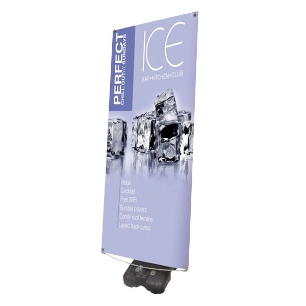 These outdoor banner frames are easy to set up and a perfect way to grab attention! All of our outdoor stands are supplied with high quality printed banners suitable for long term outdoor use in all weather conditions.