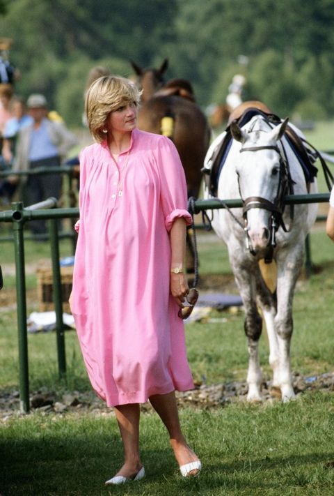 *PRINCESS DIANA ~ pregnant at a polo match.