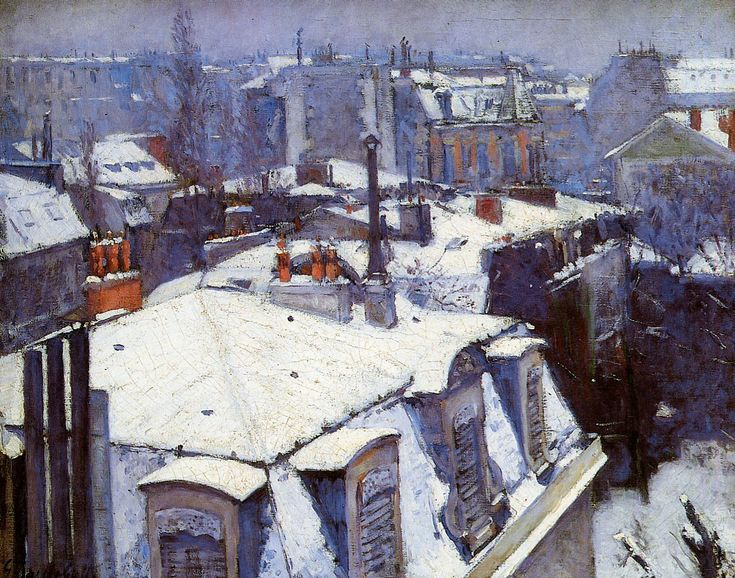 Gustave Caillebotte - View of Roofs (Snow Effect) or Roofs under Snow, 1878, oil on canvas
