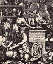 """276 – (1541)  En Europa. Se Publica en Lyón el primer libro de cocina romana, es una adaptación de Alban zum Thor, este incunable fue escrito por Marco Gavio Apicio (Caius Apicius), nacido hacia el 25 aC. él celebre libro de recetas tiene él titulo de """"De re coquinaria libri decem"""" (Los diez libros de cocina)."""