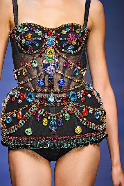 Jewel Encrusted Dolce & Gabbana Bodysuit