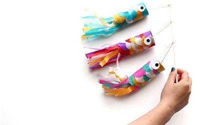 MANUALIDADES PARA NIÑOS  ¡No tires los rollos de papel higiénico! Los podés usar para hacer estos hermosos peces junto a los chicos y juntos decorar las ventanas de tu casa. ¡Les va a encantar y se van a sentir muy orgullosos de su obra!