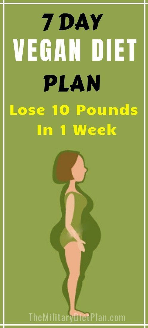 7 Day Vegan Diet Plan To Lose 10 Pounds In 1 Week Vegan Diet Plan Vegetarian Diet Plan Vegetarian Meal Plan