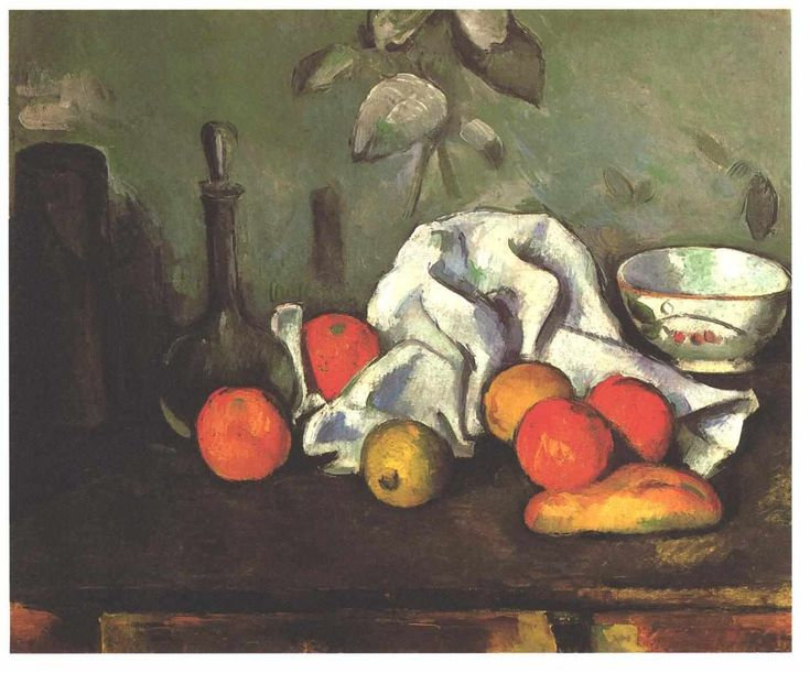 Paul Cezanne-Still life with fruits