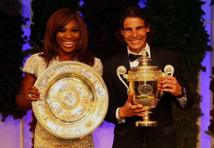 Serena Williams and Rafael Nadal. (Getty Images)