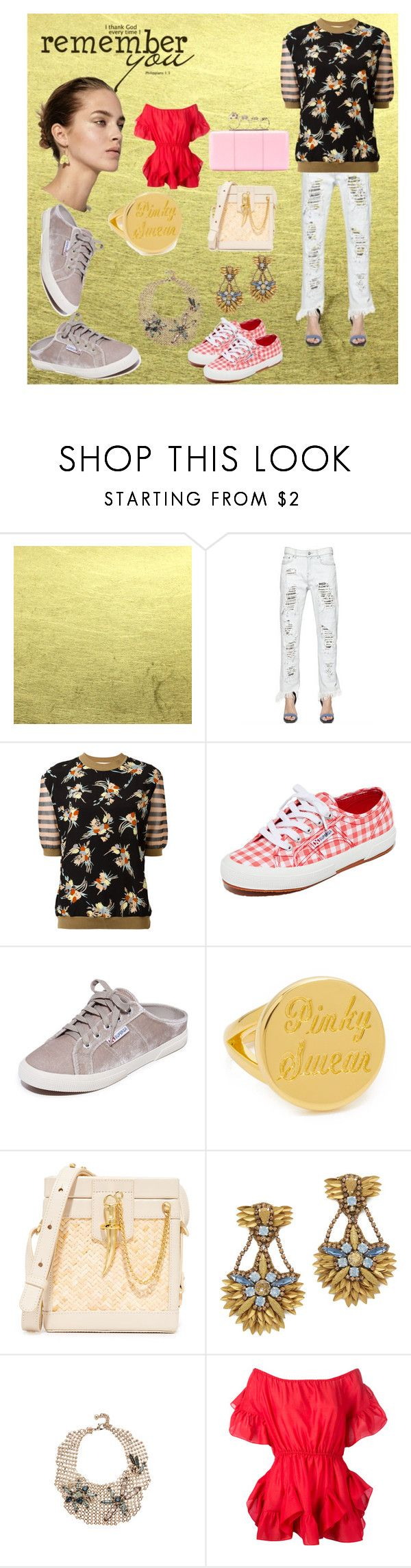 """""""Remember you"""" by denisee-denisee ❤ liked on Polyvore featuring Versus, Marni, Superga, Elizabeth and James, SANCIA, Deepa Gurnani, Lulu Frost, Goen.J and Alexander McQueen"""