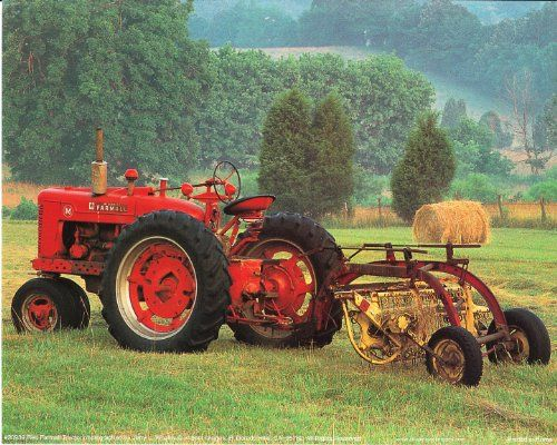 Decorate your place with this beautiful red vintage farm tractor art print poster. It would bring elegant change and new color to your décor pattern. This poster is made of using high quality papers with a perfect color accuracy which ensures that your posters last a lifetime without fading.