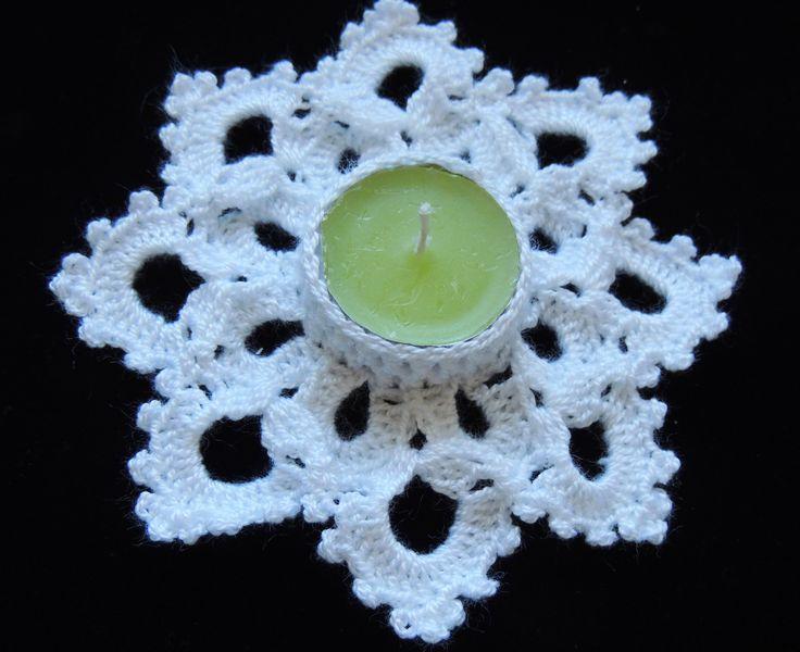 Crochet : Portavela Navideño. Parte 1 de 2