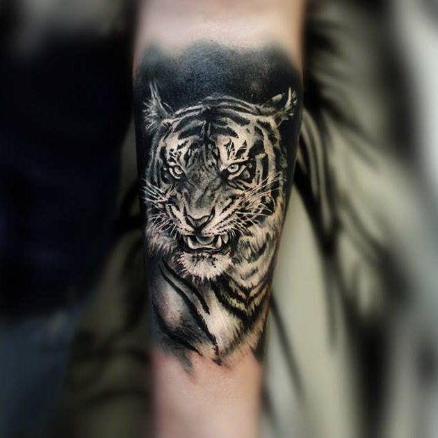 #blackandgrey #tigertattoo #tiger #CarolineFriedmann