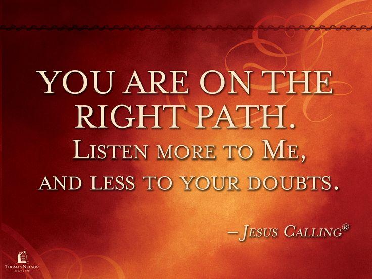 Jesus Calling  http://www.thomasnelson.com/jesus-calling.html