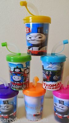 Thomas The Train Tank Engine Personalized Party Favor Birthday Cups ~ Set of 6
