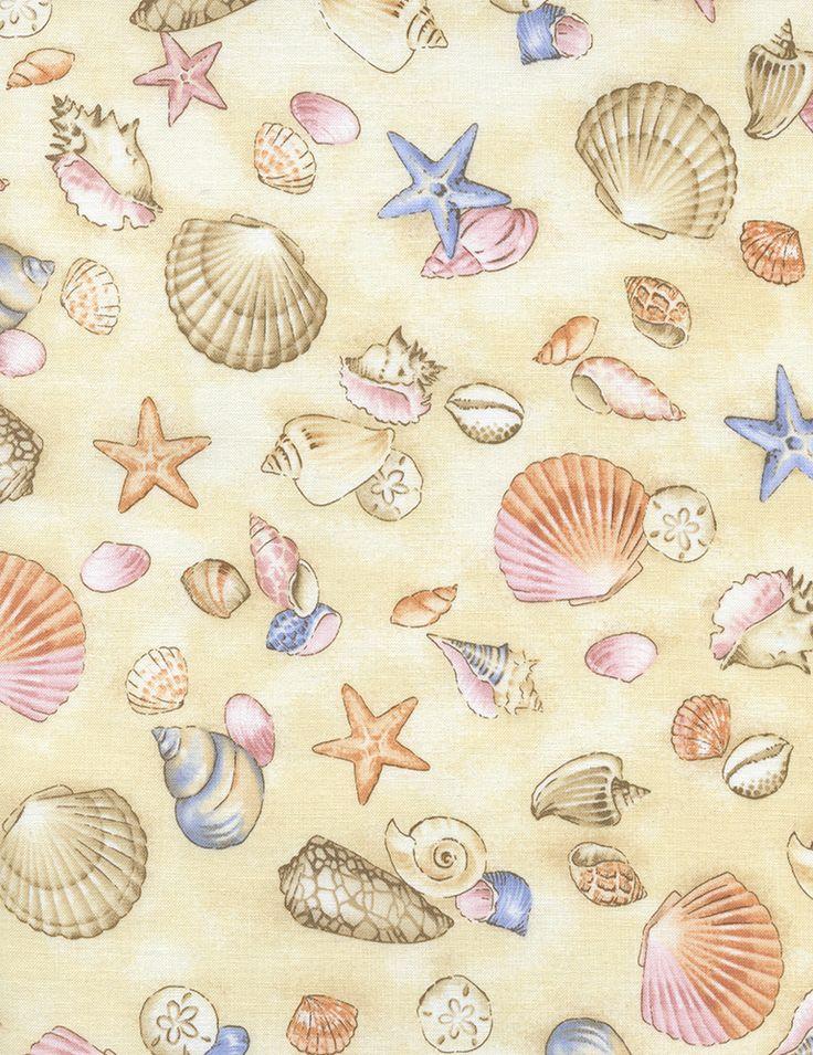 seashell fabric | Seashell Fabric by Timeless Treasures ...