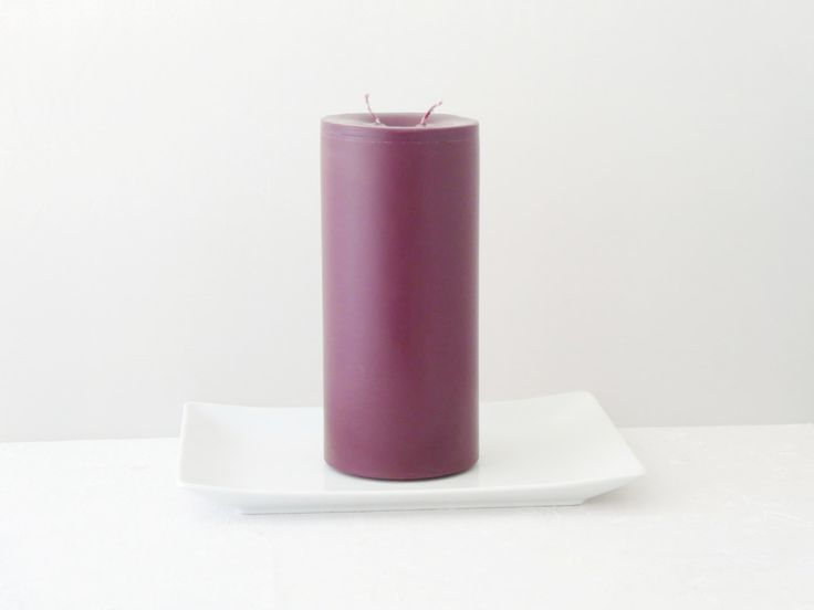 Dabble wick candle, Marsala candle, soy pillar candle, minimalist candle, home décor, ecofriendly candle, handmade candle, Pantone's color by CandlesbyDeganit on Etsy