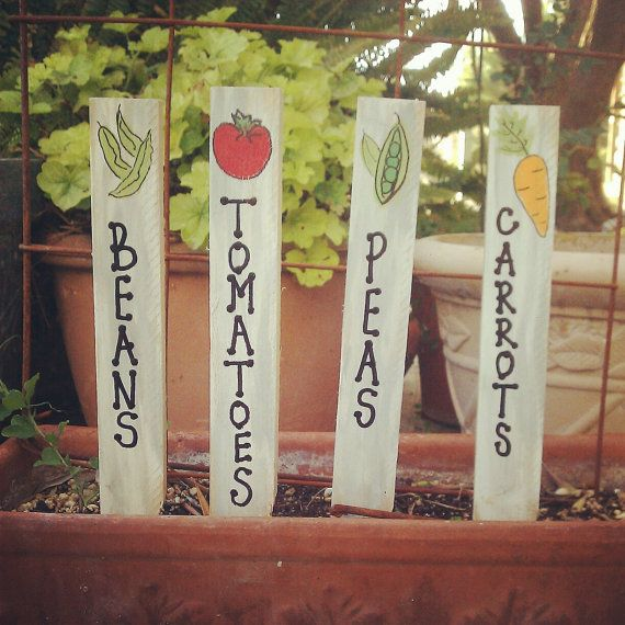 Garden Markers by HOPEandSTAY on Etsy, $10.00
