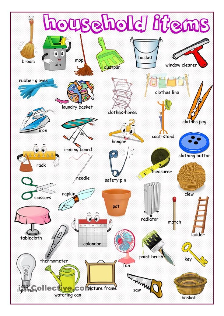 Household Items Picture Dictionary