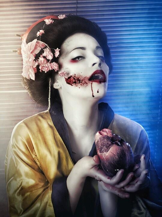Geisha japanische Schminke