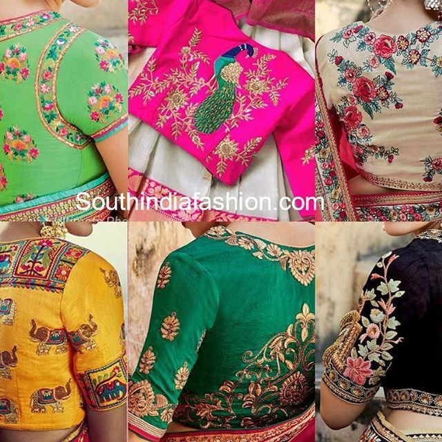 Rashmi Gautam In Mugdha Art Studio South India Fashion Embroidered Blouse Designs Embroidery Blouse Designs Blouse Designs