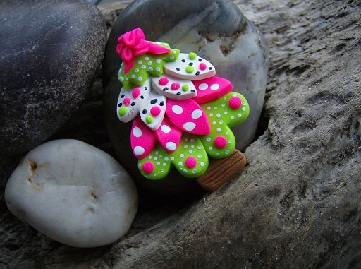 Cute girlie ornament from fimo