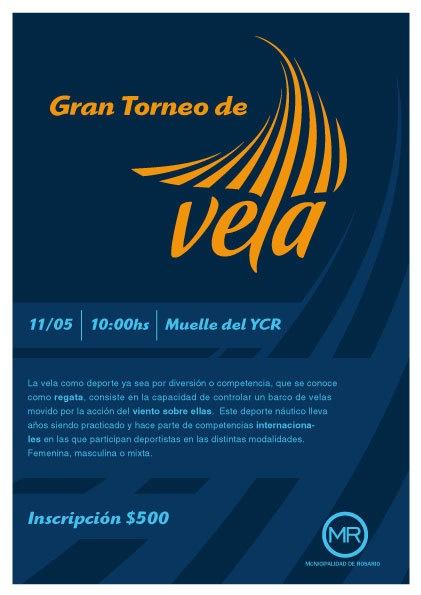 Logo for Olimpic Sport VELA by Manuel Martinez Campagna, via Behance