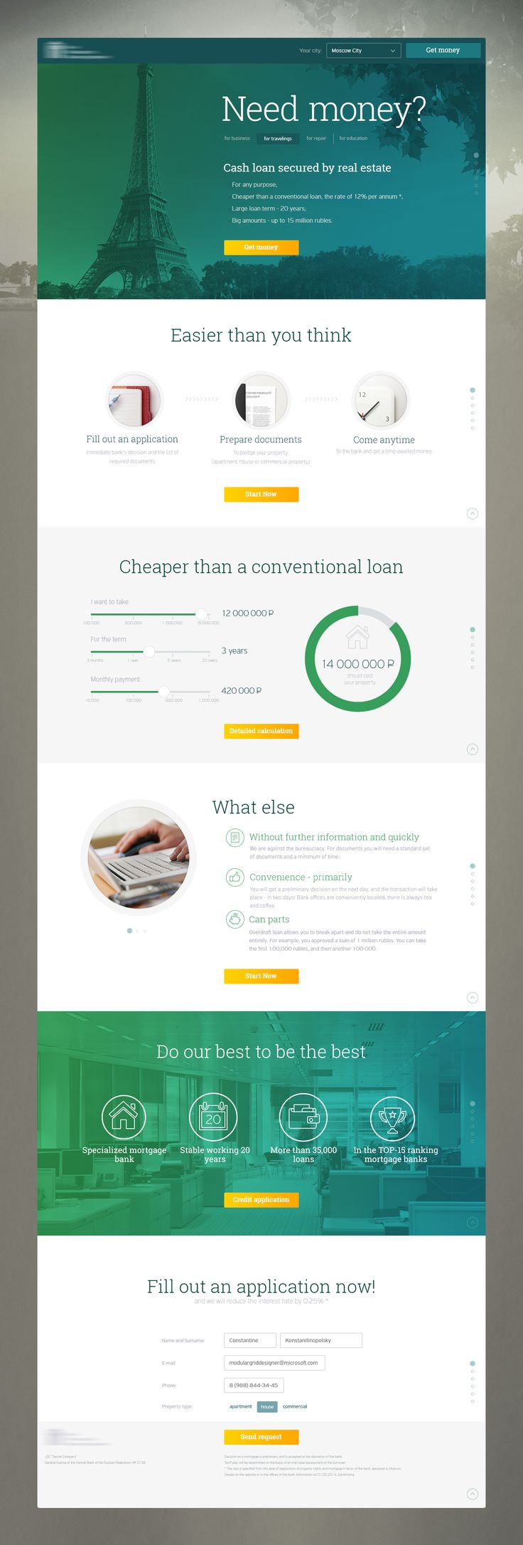 Fantastic example of a conversion driving page design.