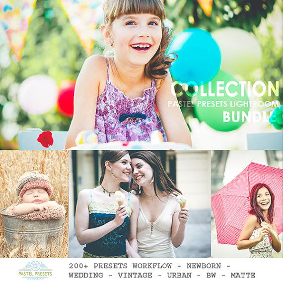 Sale 200 Lightroom Presets Collection Workflow by PastelPresets