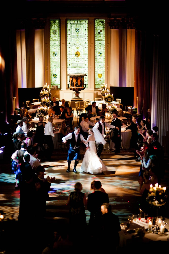 Traditional Scottish Dancing Wedding Evening Reception In Upper Library
