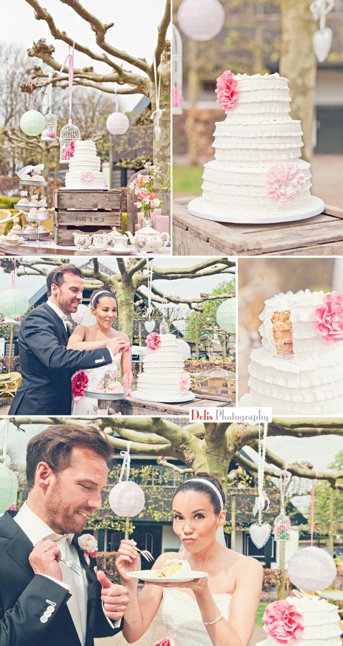 Cupcake & Co. maakt de bruidstaart,cupcakes,macaron verzorgt voor Marcia en Dirk