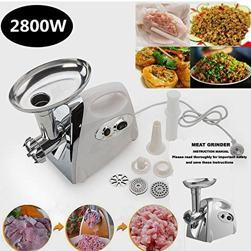 Generic YCUS2160128179 830751 Stuffer0W Electric 2800W Electric Luxury White Meat Grinder Mincer Stainless Steel Sausage Stuffer Luxury Whit ** Learn more by visiting the image link.  This link participates in Amazon Service LLC Associates Program, a program designed to let participant earn advertising fees by advertising and linking to Amazon.com.
