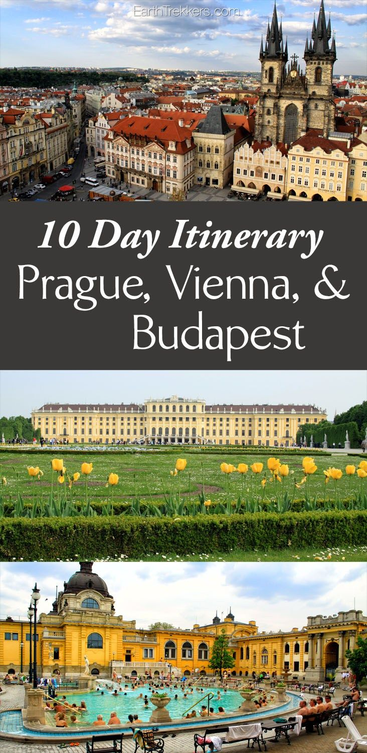 10 Day Itinerary Prague Vienna & Budapest with a day trip to Cesky Krumlov.