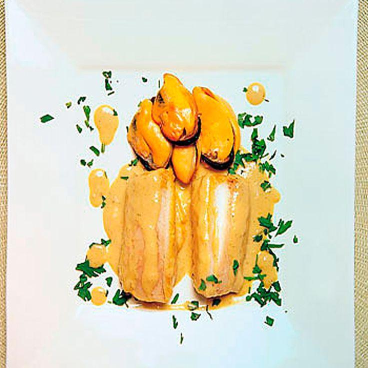 Merluza con salsa de mejillones